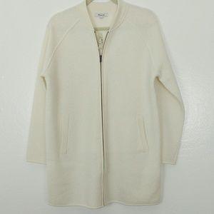 Madewell  100% Wool Bomber sweater jacket.
